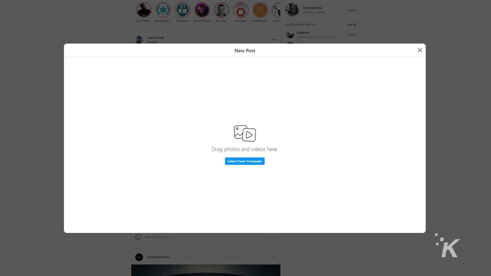 how to post to instagram on desktop