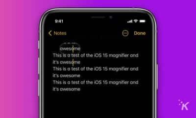 ios 15 magnifier text