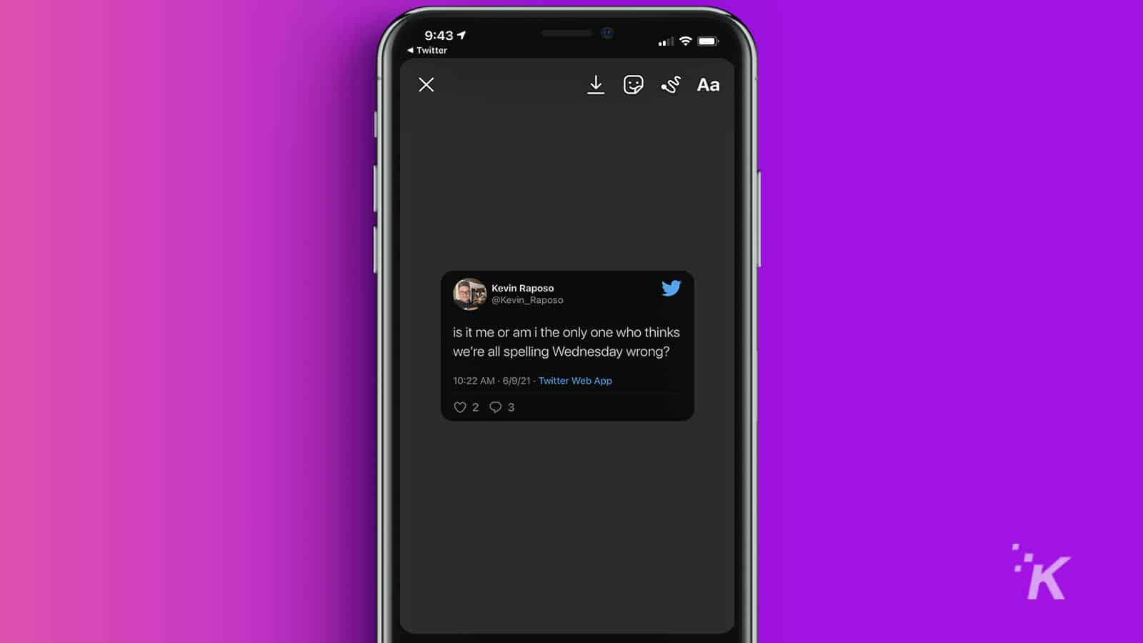 how to share tweets to instagram