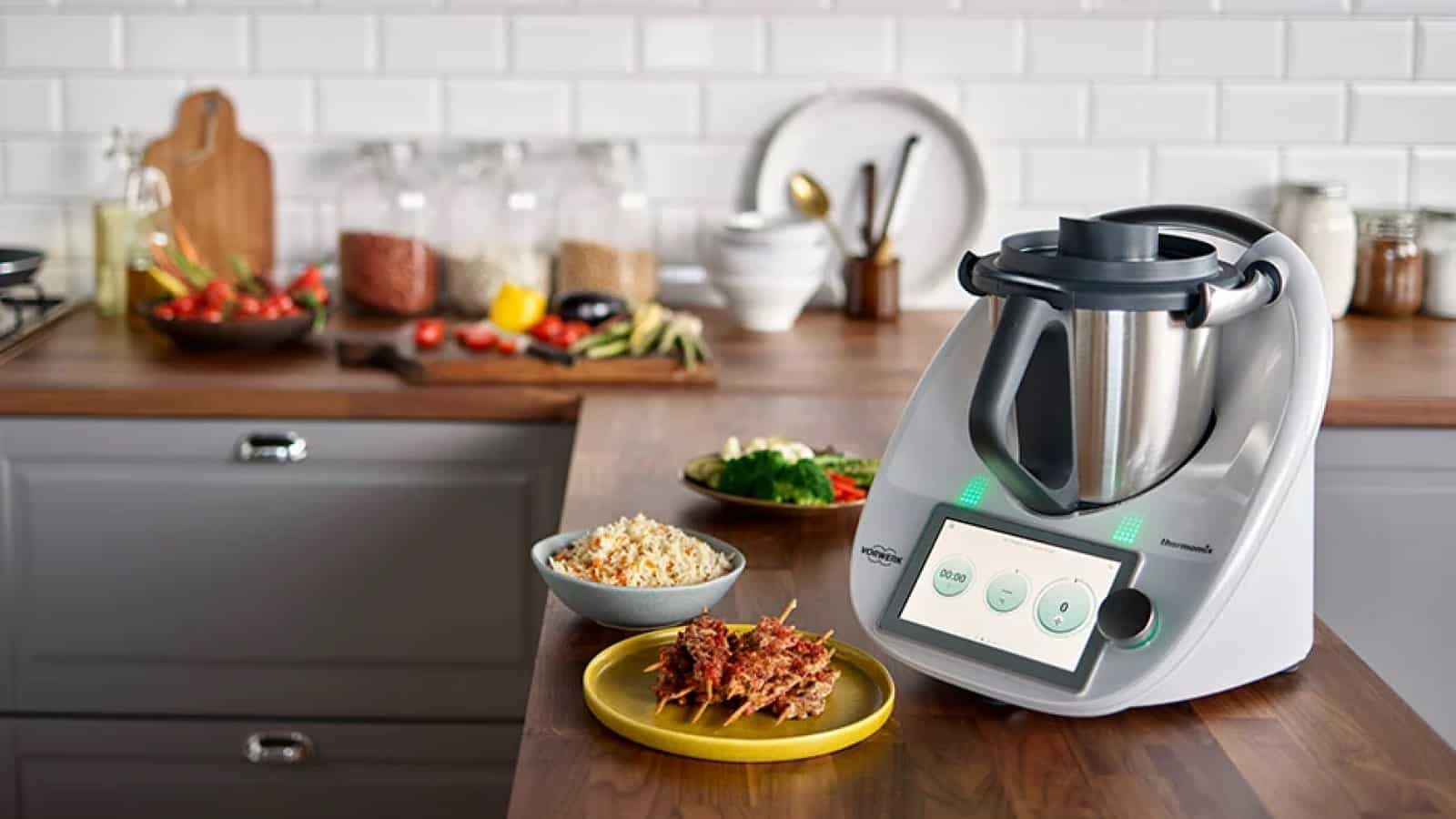 thermomix tm6 smart cooking device on kitchen counter