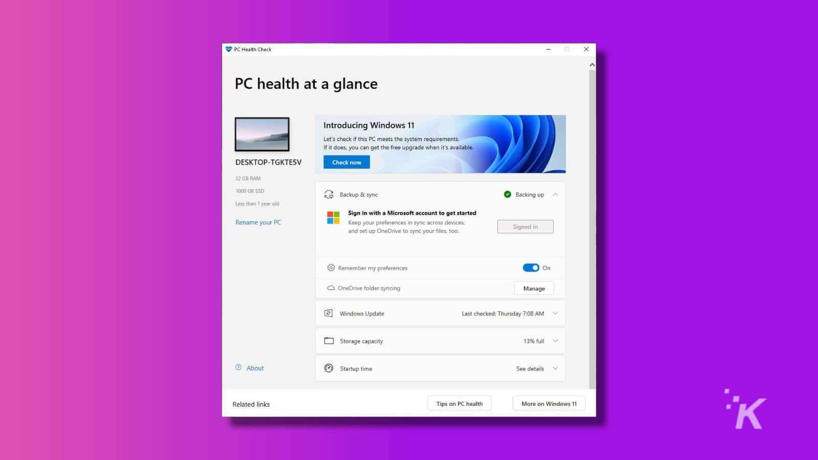 health check app windows
