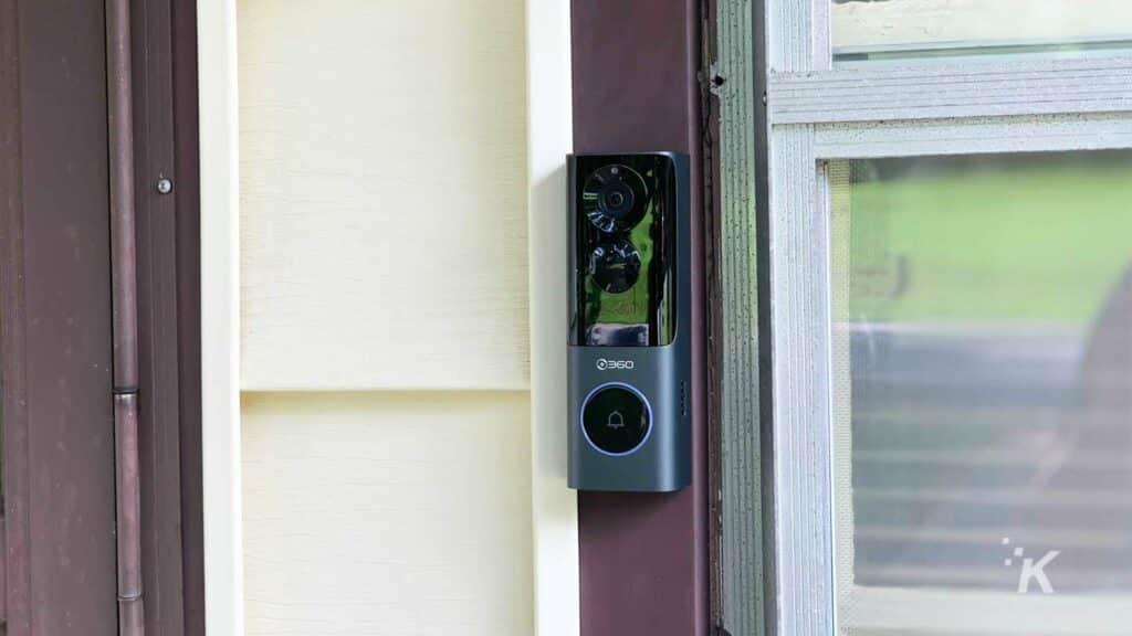 video doorbell on house