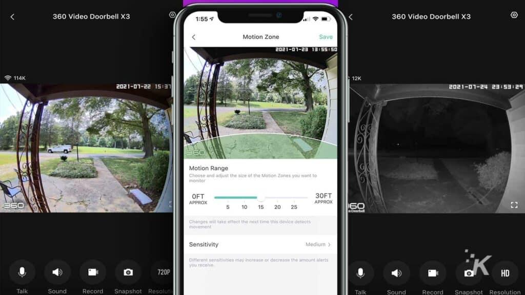 360 video doorbell x3 app