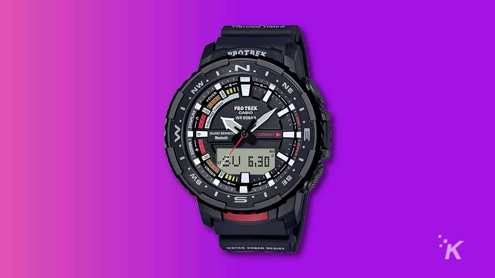 Casio prt-b70 fishing focused connected watch