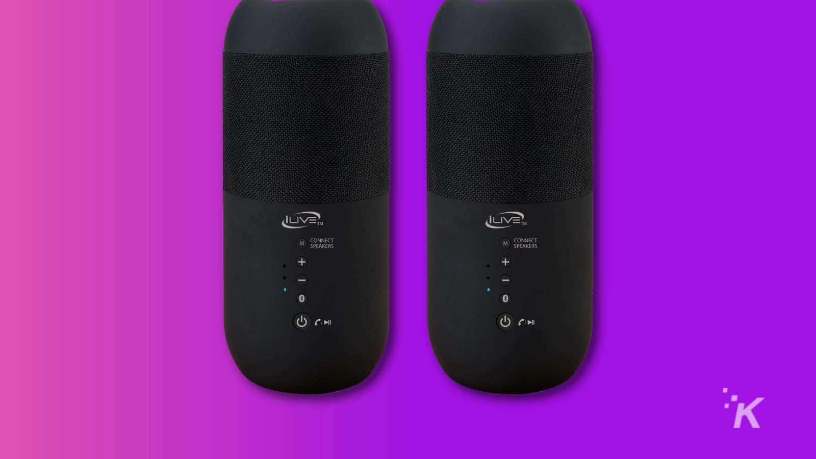 ilive dual bluetooth speakers
