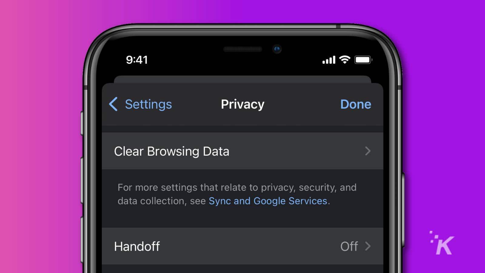 ios google chrome clear browsing data on iphone