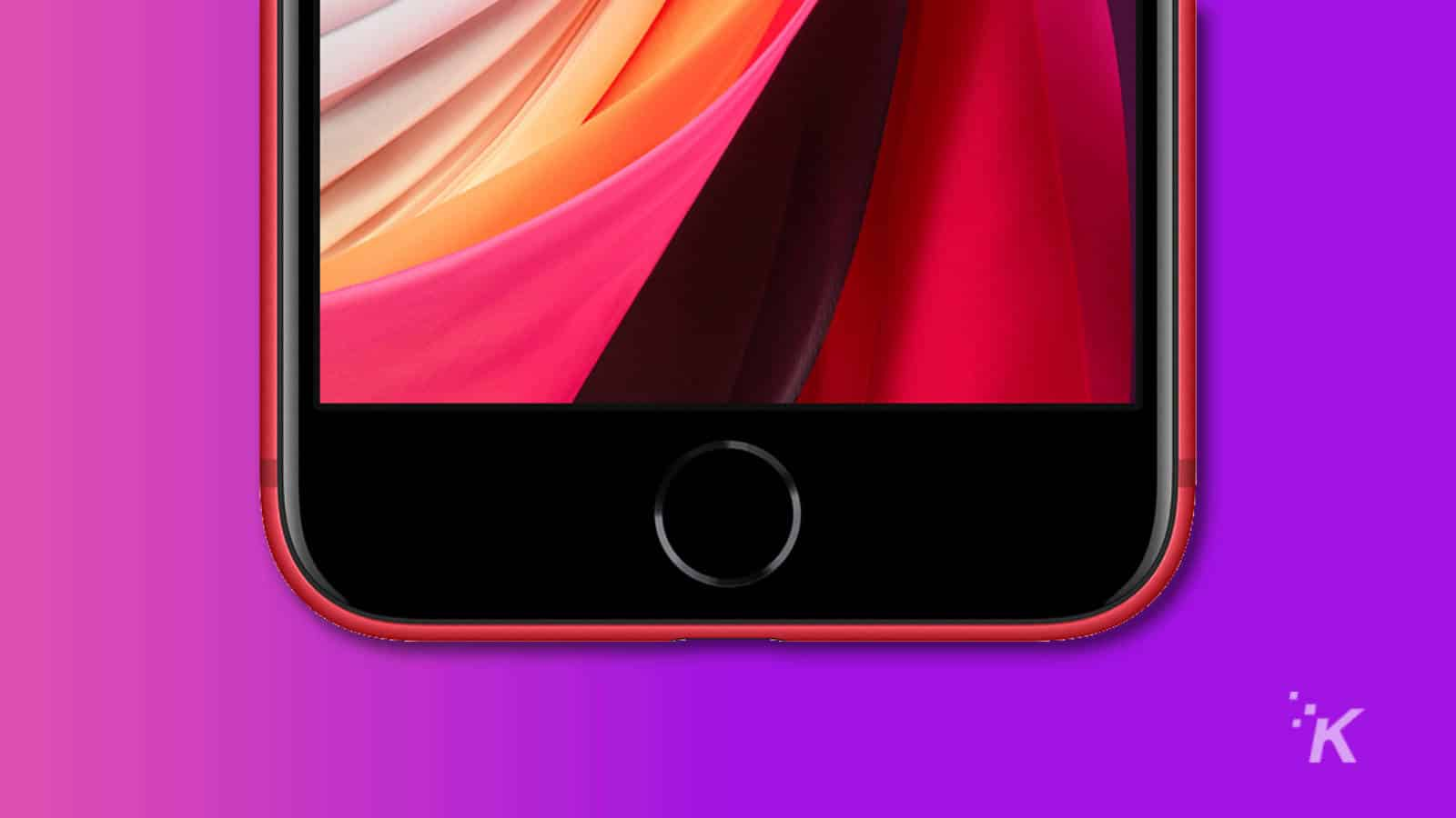iphone se showing home button