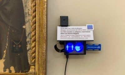 italian art museum tracking camera