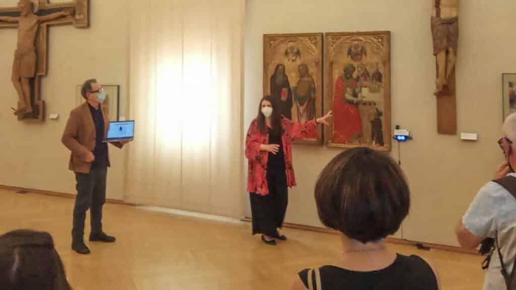 italian art museum using cameras to track interest