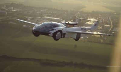 klein vision aircar flying car in flight