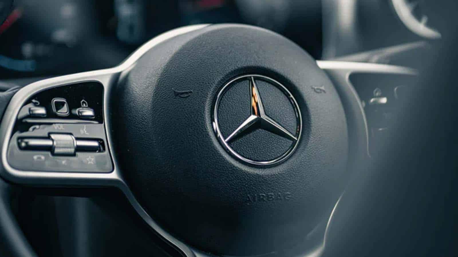 mercedes-benz steering wheel electric vehicle