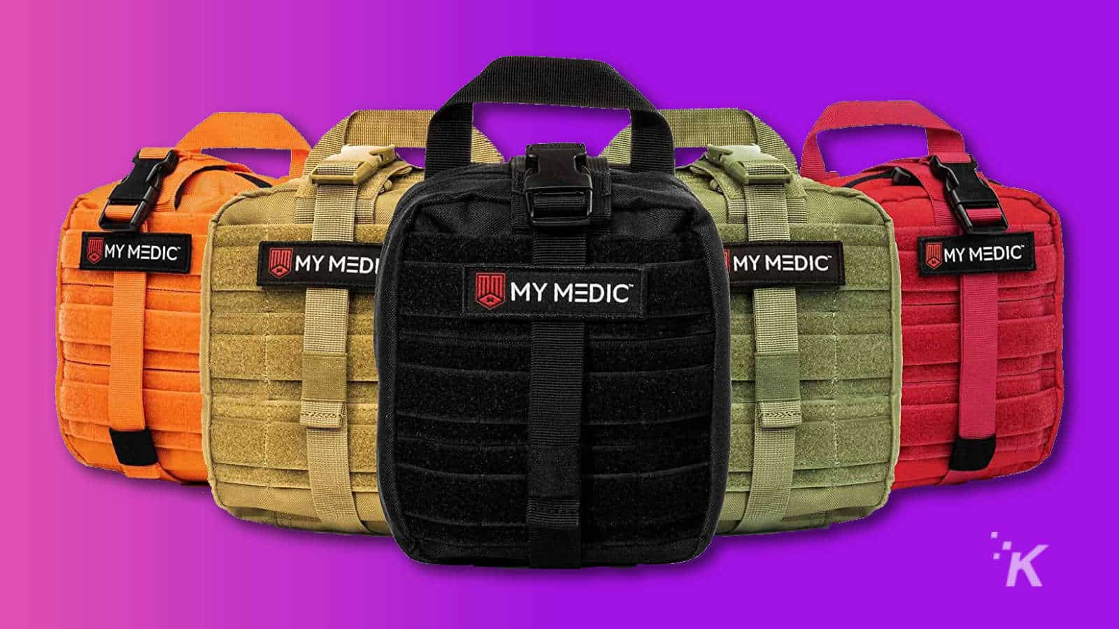 mymedic myfak first aid packs in multiple colors