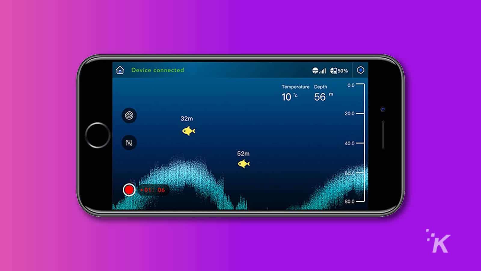 powerfinder fish finder app and radar