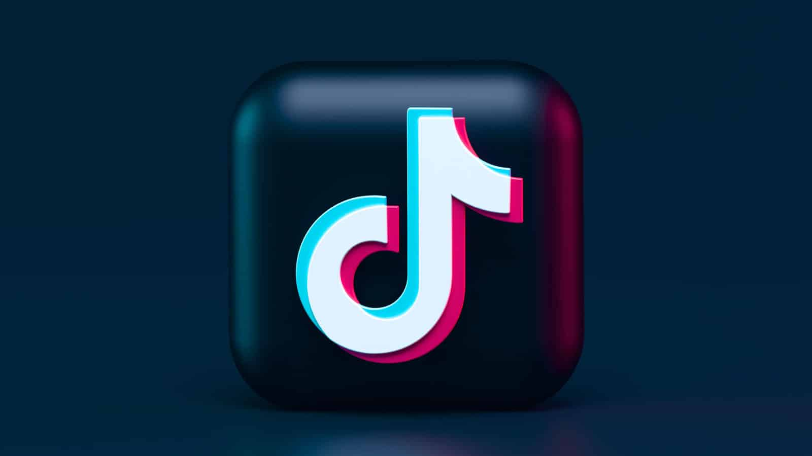 tiktok logo in 3d