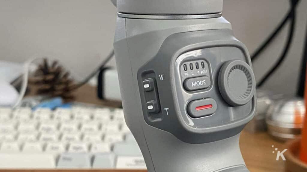 zhiyun smooth q3 gimbal controls