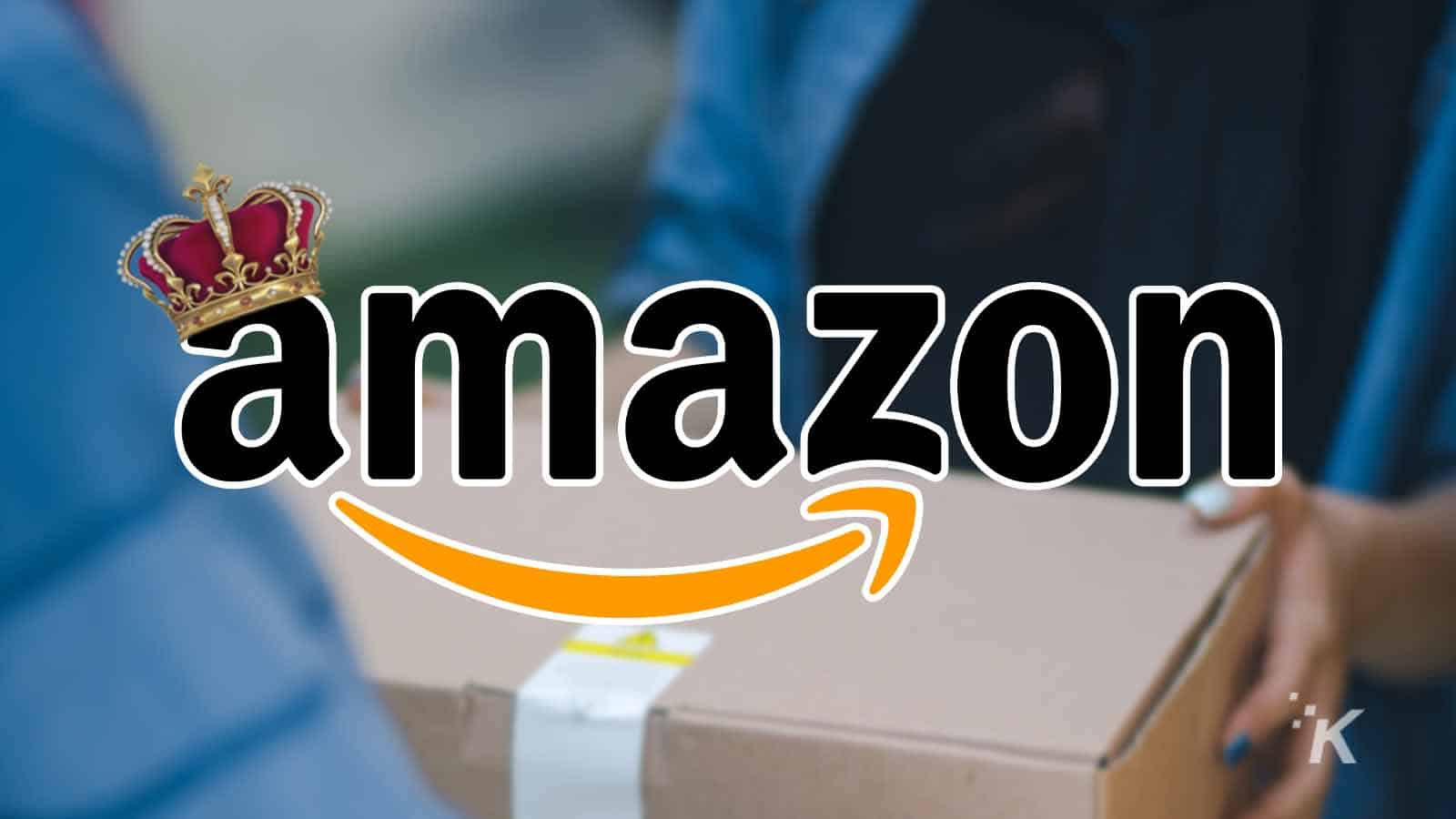 amazon logo with crown