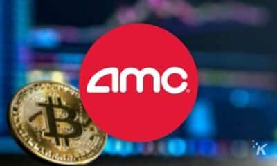 amc logo with bitcoin
