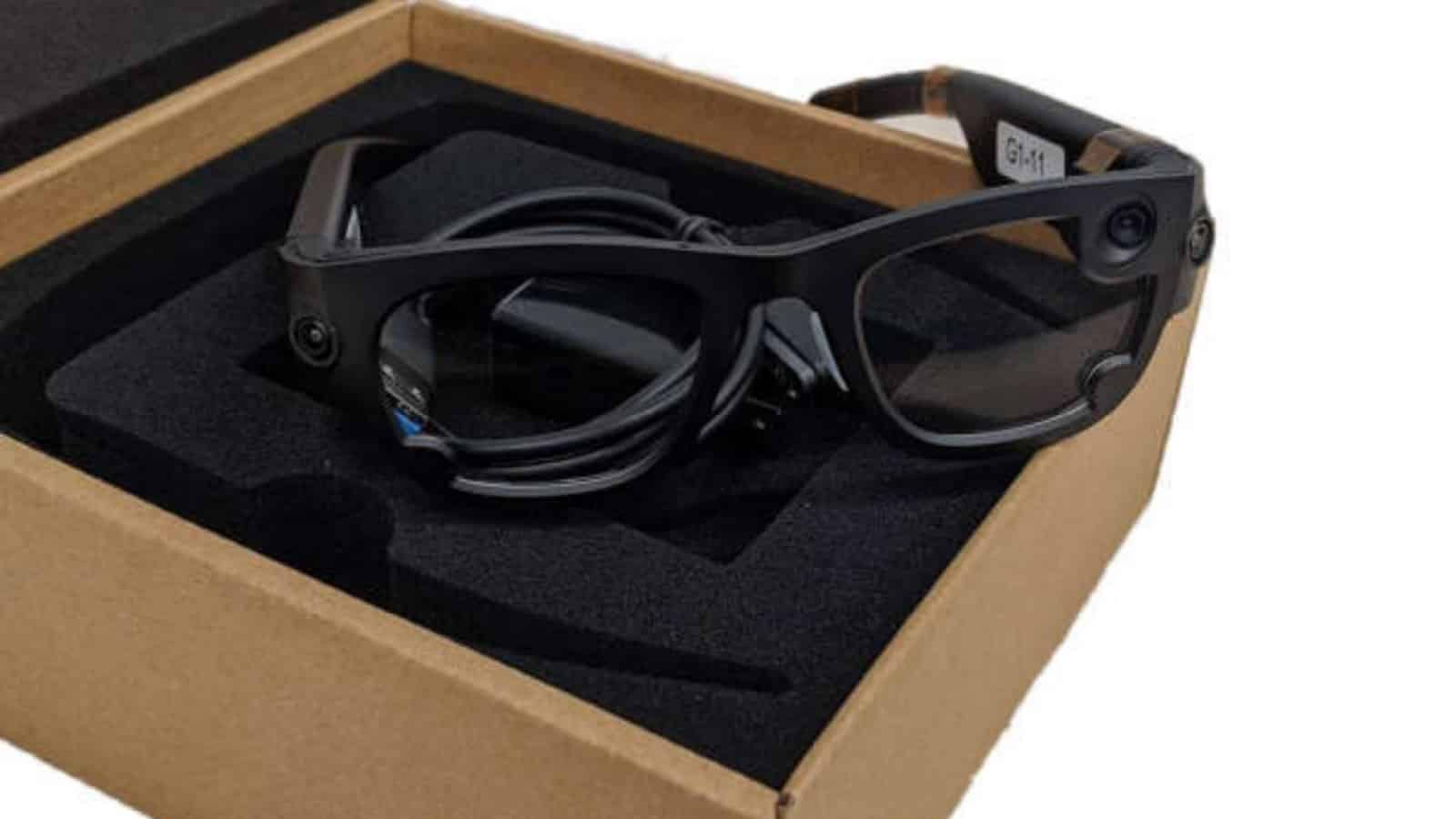 facebook's AR glasses, gemini, on top of its packaging