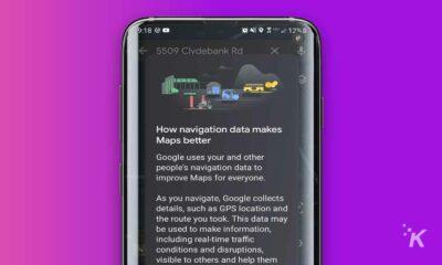 google maps navigation data