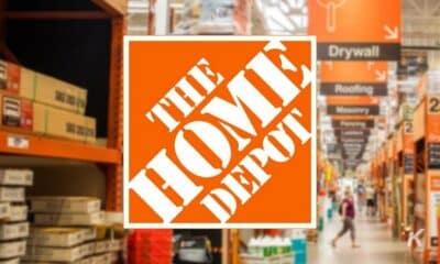 home depot logo blurred background