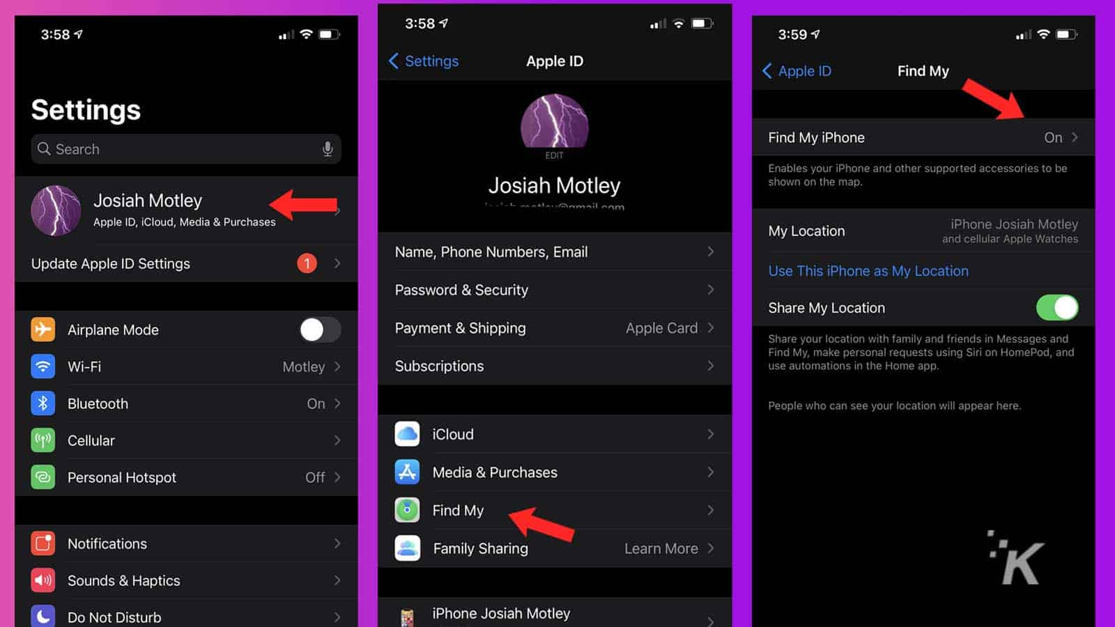 how to turn off find my on iphone and do a factory reset