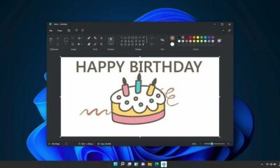 screenshot of the redesigned microsoft paint app