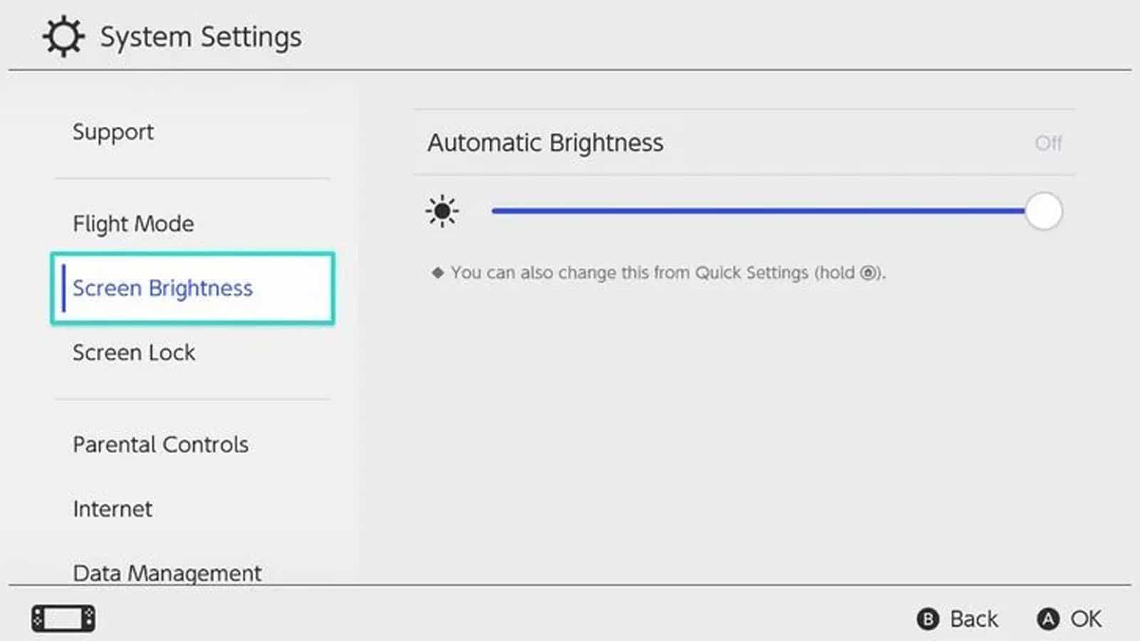 how to adjust switch brightness