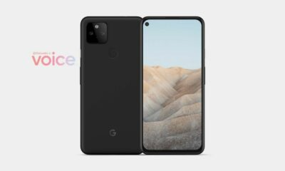 render supposing to show the upcoming google pixel 5a