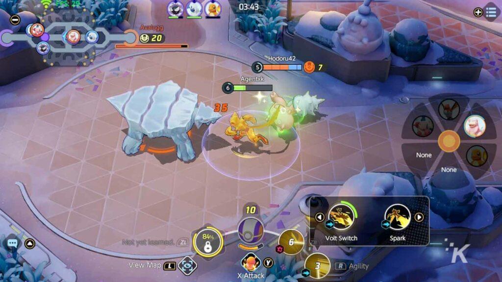 pokemon unite battle