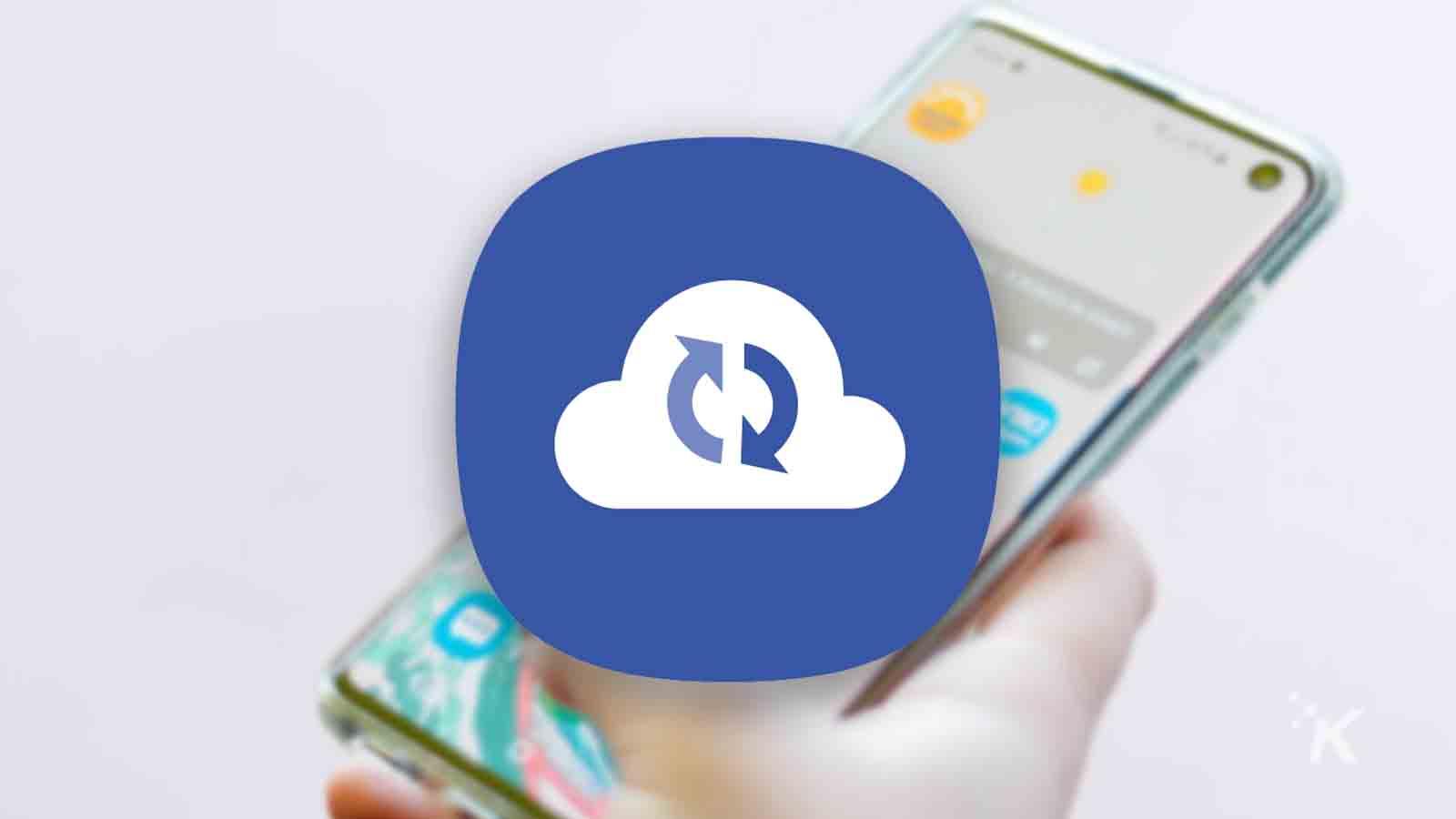 samsung cloud back up logo