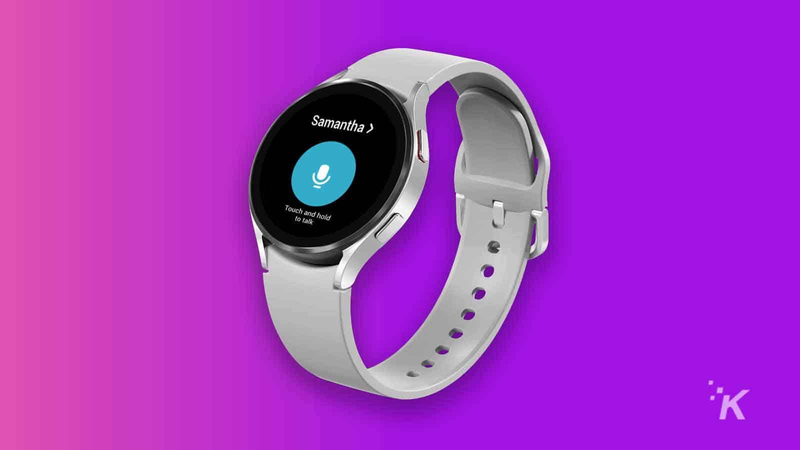 samsung galaxy watch 4 with walkie-talkie app