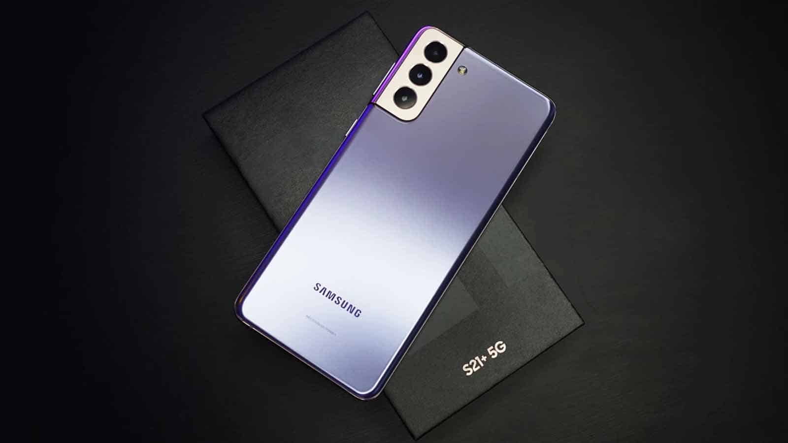 samsung phone on table with android
