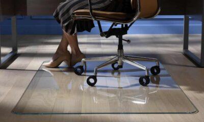 vitrazza glass office chair mat