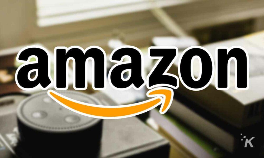 amazon logo and echo device