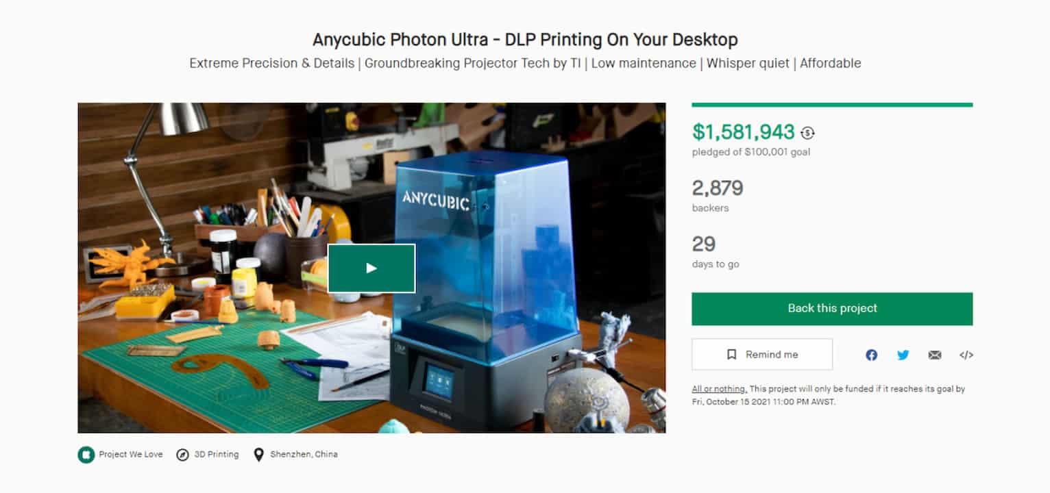 anycubic kickstarter