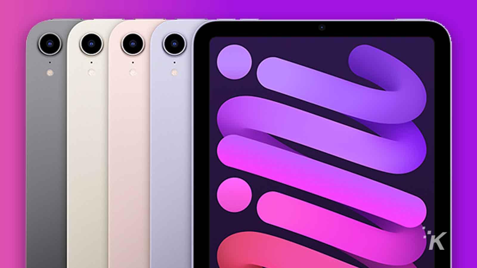 apple ipad mini in four colors