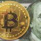 bitcoin and $100 dollar bill