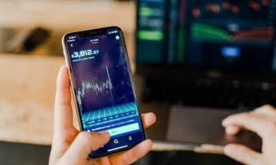 crypto charts on smartphone