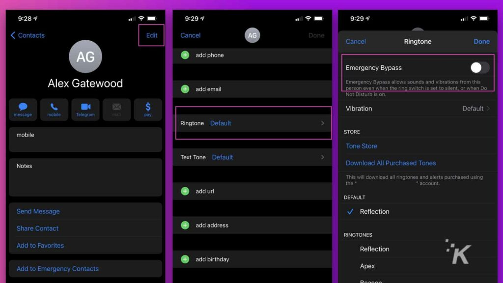 how to bypass do not disturb mode on ios