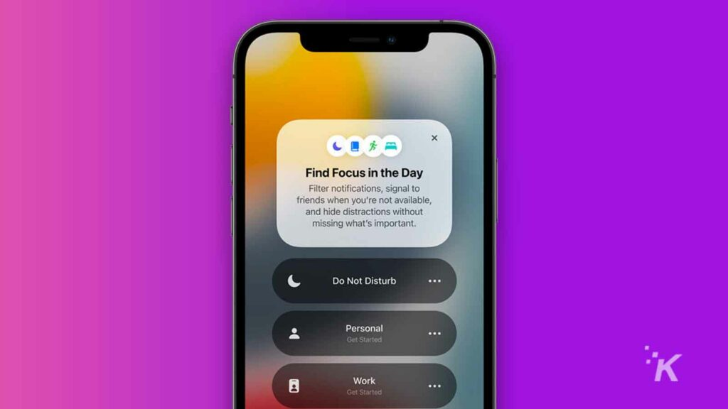 apple ios 15 focus mode