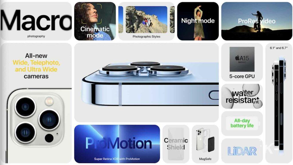 iphone 13 pro camera specs
