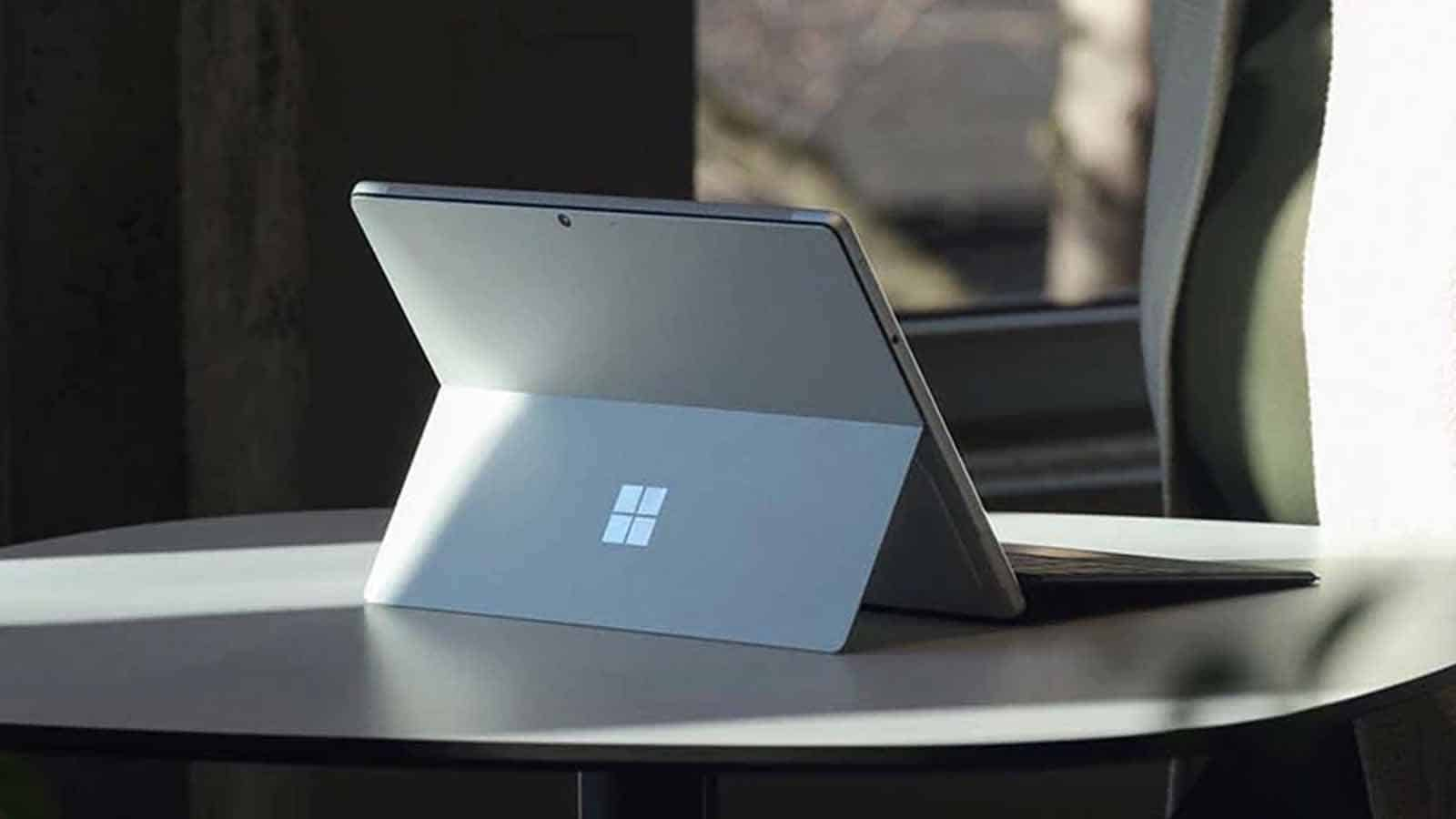 microsoft surface pro 8 on table