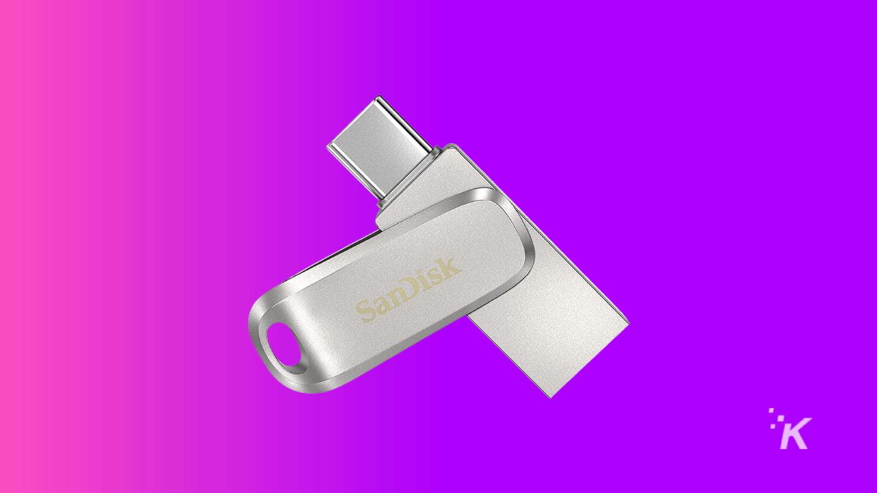 sandisk 256GB usb-c flashdrive