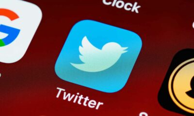 twitter app icon on smartphone