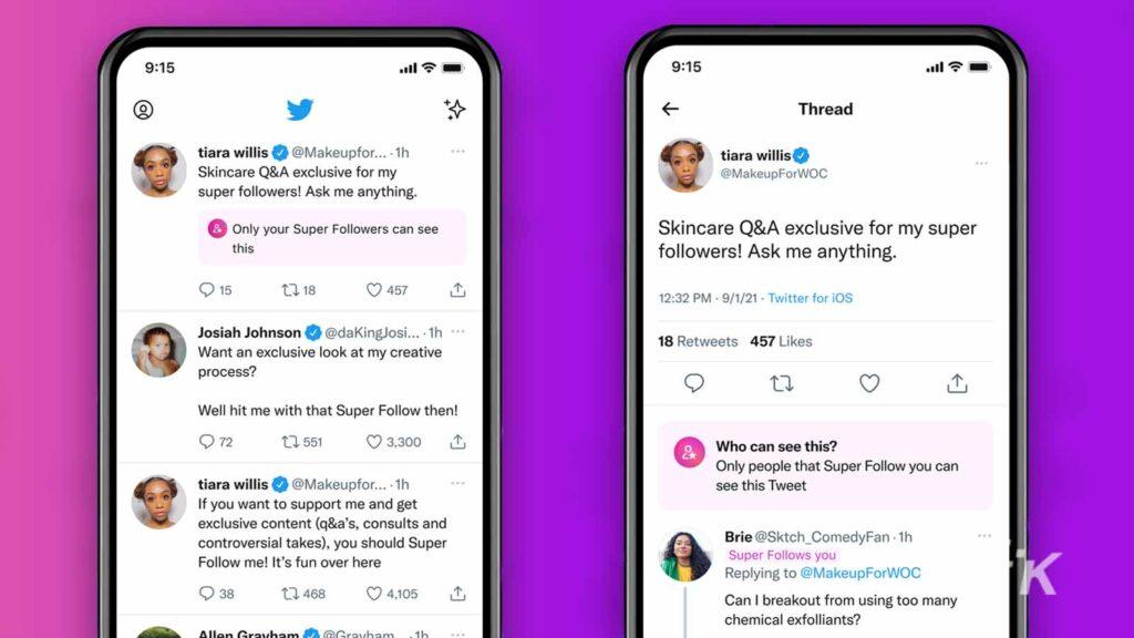 twitter super follows on iphone