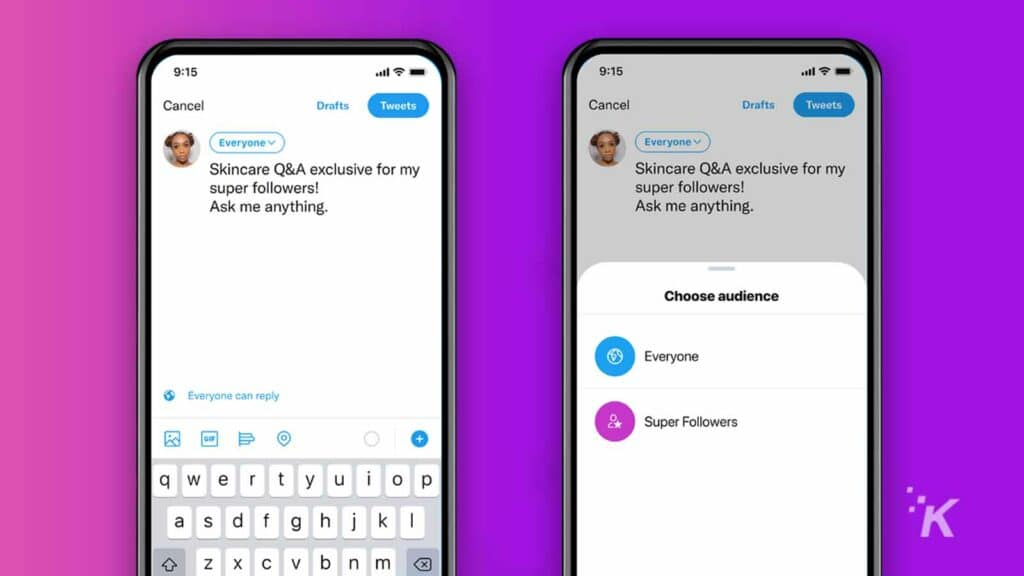 twitter super follows audience selection