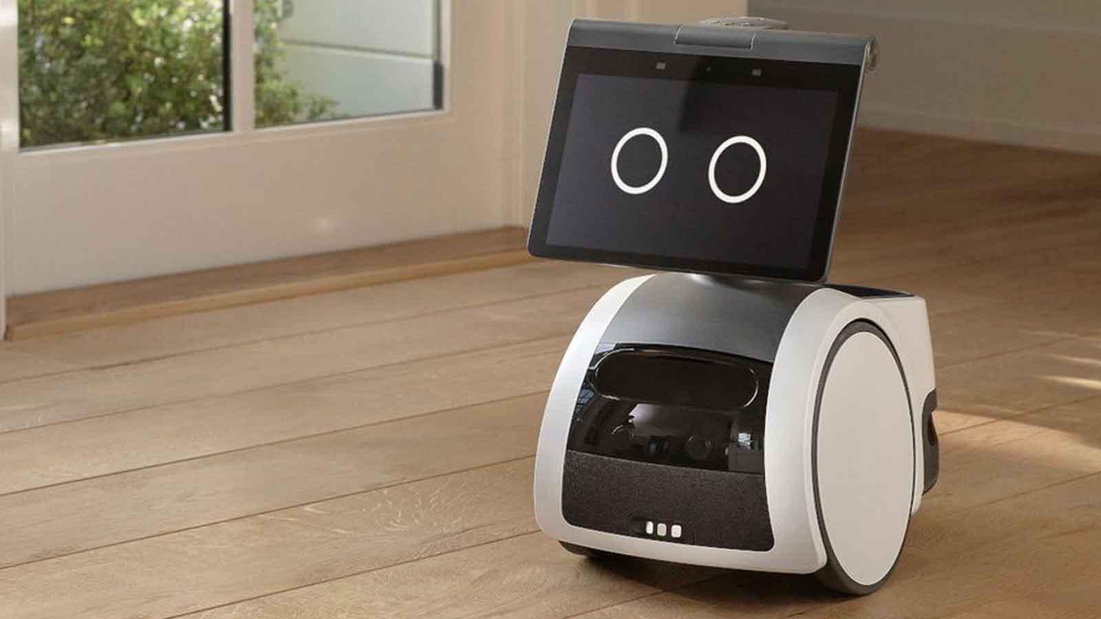 astro robot on floor