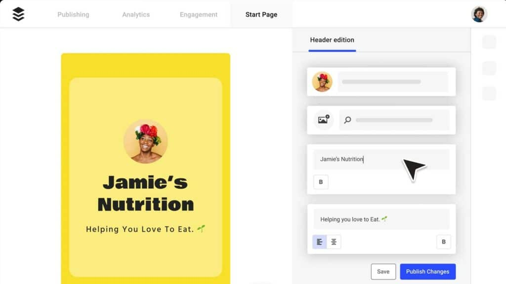 buffer start page feature