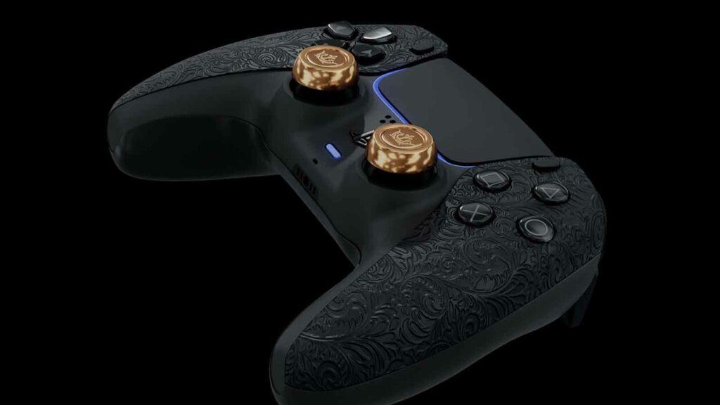 golden ps5 controller from caviar