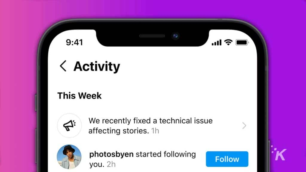 instagram outage feature